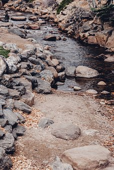 Water, Steam, Rocks, Nature