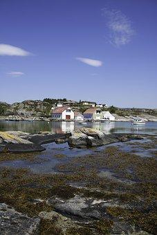 The Boathouse, Sea, Salt Water, Idyll, Norway, Boats