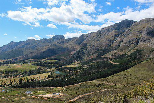 South Africa, Mountains, Black Mountain Pass, View