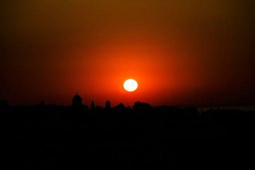 Sunset, Sun, Evening, Horizon, Silhouette, Sky