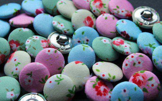 Buttons, Button, Colorful, Textile, Sewing