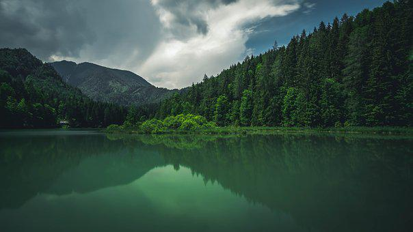Lake, Mountain, Landscape, Water, Nature, Forest, Sky