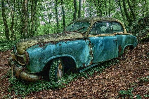 Auto, Oldtimer, Car Wreck, Wreck, Car Cemetery