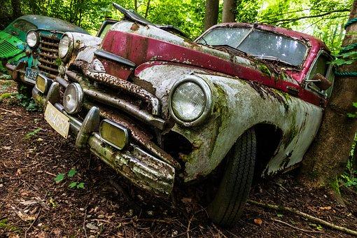 Auto, Car Cemetery, Historically, Oldtimer, Wreck