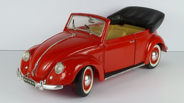 Vw Beetle, 1951, Vw Käfer, Cabrio, Convertible, 1x18