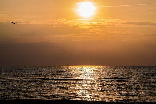 Sunset, Abendstimmung, Sunset Sea, Twilight, Mood