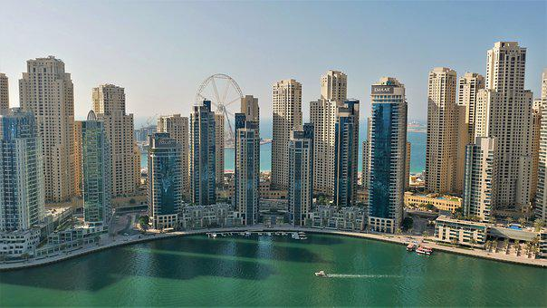 Dubai, City, Architecture, Water, Emirates, Tourism