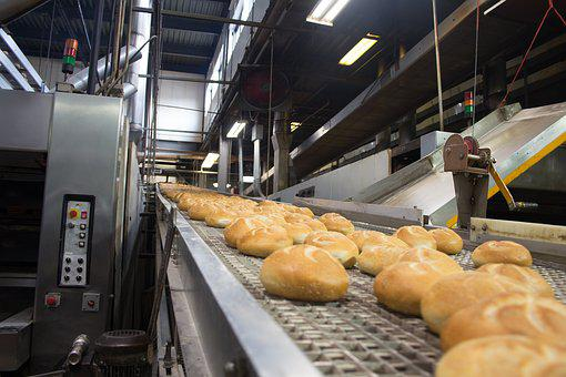 Bakery, Rolls, Assembly Line