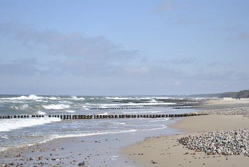 Beach, Sea, Sand, The Coast, Blue, The Baltic Sea