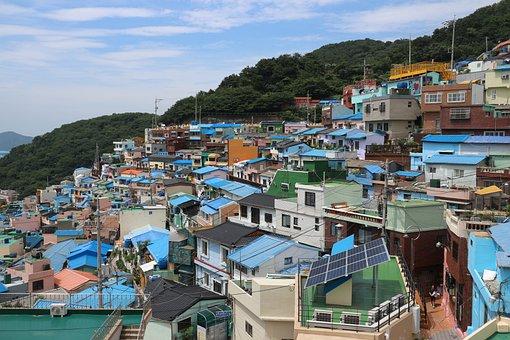Korea, Busan, Gamcheon-dong Culture Village