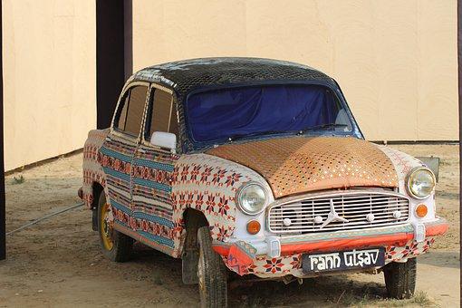 Decorative, Car, Vintage, Retro, Automobile, Vehicle