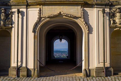 Solitude, Stuttgart, Castle, Passage, Arch, Goal