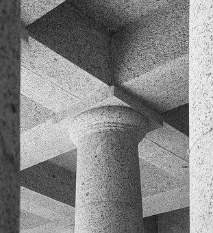 Rhodes Memorial Granite Column, Ceiling Detail