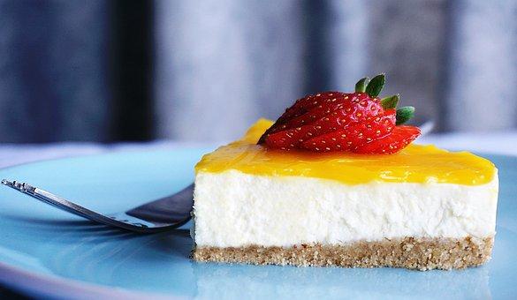 Cheesecake, Lemon, Dessert, Food, Cake, Fruit