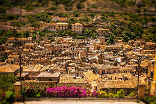 City, Sicily, Italy, Mediterranean, Modica, Old Town