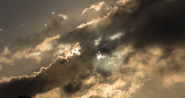 Sunset, Sky, Clouds, Cloudscape, Weather, Grey