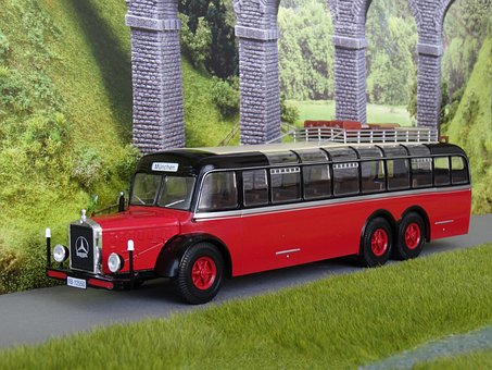 Model Car, Bus, Coach, Oldtimer, Historically