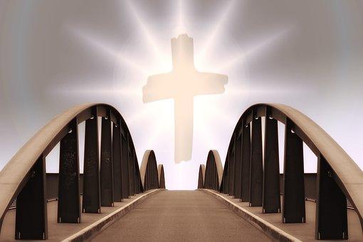 Religion, Faith, Cross, Church, Bridge, Sunset, Sunrise