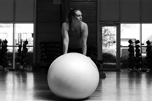 Black And White, Black White, Ball, Fitness
