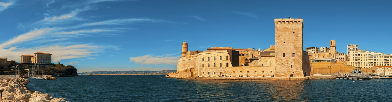 Marseille, France, Fort, Saint-jean, Fortress, Sea