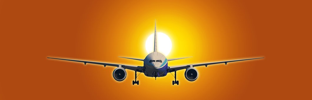 Aircraft, Sun, Issue, Theme, Flying, Flight, Arrival