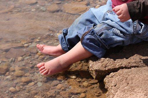Lake, Fun, Toes, Baby, Feet, Water, Sunscreen, Kids