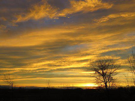 Sunset, Nature, Landscape, Abendstimmung, Evening Sky