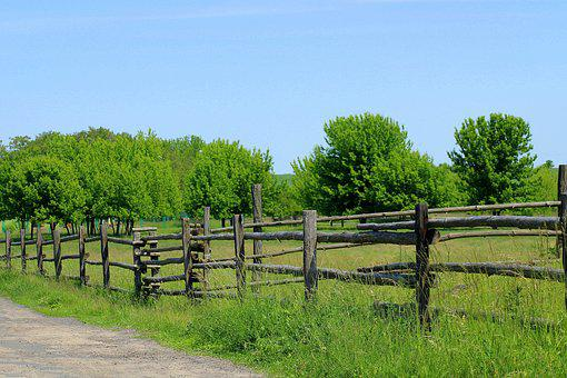 Fencing, Wooden Fence, Barrier, Spring, Wood, Landscape