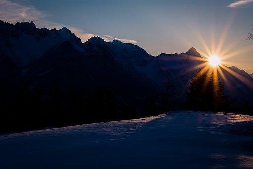 Landscape, Sunrise, Sun, Morning, In The Morning