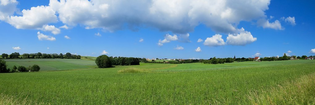 Landscape, Nature, Sky, Clouds, Panorama, Meadow, Field