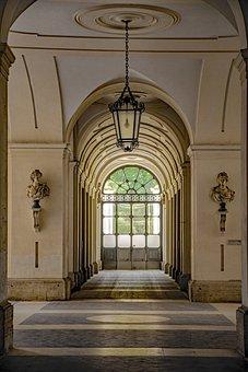 Hall, Entrance, Interior, Luxury, Corridor
