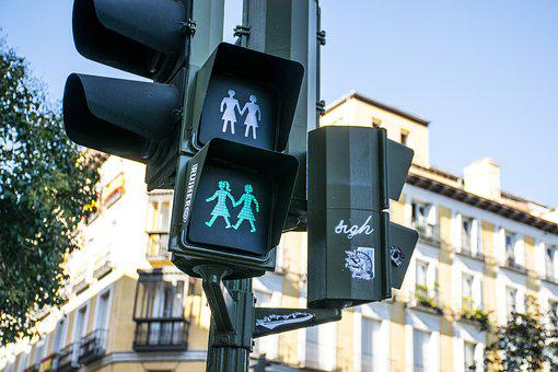 Traffic Light, Madrid, Malasaña, Lgtbq, Rights, Signal