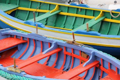 Malta, Boats, Marsaxlokk, Fishing Boats, Paint Colour
