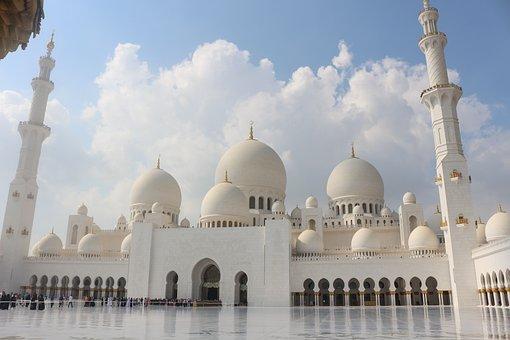 Mosque, Abu Dhabi, Architecture, Arab, Uae, Asia
