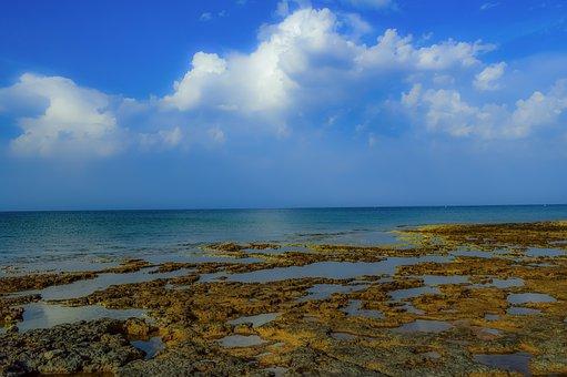Beach, Coast, Sea, Horizon, Nature, Shore, Sky, Clouds