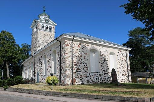 Finnish, Oak Island, Church, Stone Church, Summer
