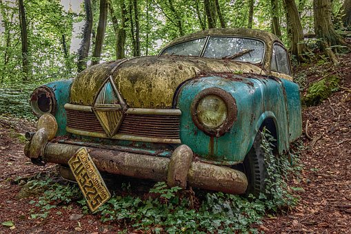 Oldtimer, Lost Places, Old, Decay, Auto, Rust