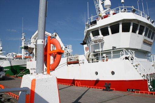 Port, Ships, Ireland, Fishing, Orange, Green, White