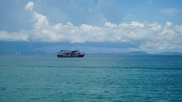 Sea, Ship, Sky, Holidays, Thailand, Peace