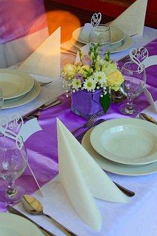 Place Setting, Plate, Villa, Wedding, Wedding Table