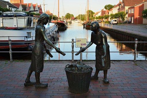Monument, Weener, Törfwieven, Tourism, Port, Old Port