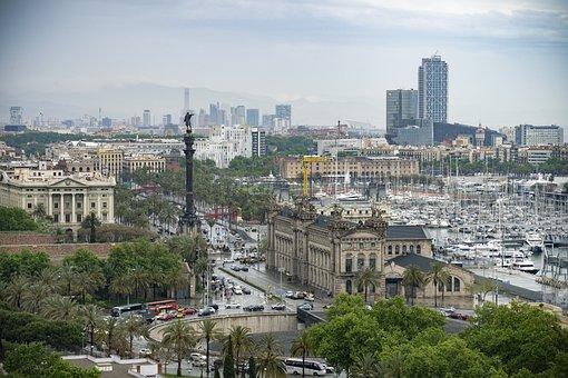Barcelona, Port, Christopher Columbus, Sea, Catalunya