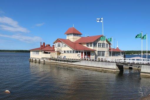 Finnish, Oak Island, Restaurant Knipan, Sea, Port