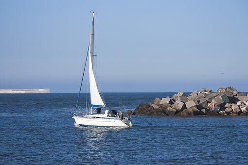Boat, Sailboat, Sea, Sailing, Ocean, Sky, Walk