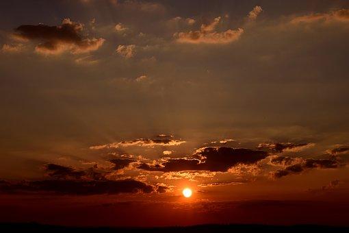 Clouds, Sunset, Evening Sky, Sky, Sun, Afterglow