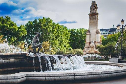 Plaza De Espana, Madrid, Spain, Landmark, Travel