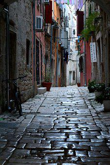 Streets, Architecture, Italy, Dark Alley, Townhouses