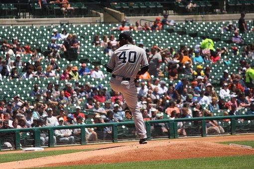 Baseball Player, Pitcher, Baseball Game