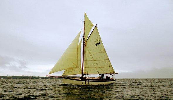 Sailing, England, Sailboat, Sail, Water, Boat, Scenic