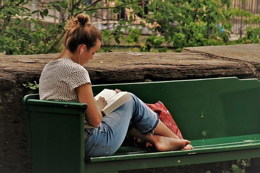 Reading, Student, Science, Wisdom, Book, Girl, Park